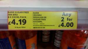 Irn Bru BOGOF deal cheaper than buying 1! £4.00 at Tesco