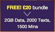 FREE £20 bundle (1500 mins/2000 txt/2GB data) on ASDA PAYG Mobile .