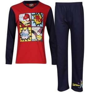 Simpsons Boys' Pyjama Sets £6.99 (save £11) delivered from Zavvi