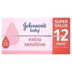 Johnson's Baby Wipes 12 x Pack of 56 Wipes (672 Wipes) £8.80 @ Amazon   (free delivery £10 spend/prime)
