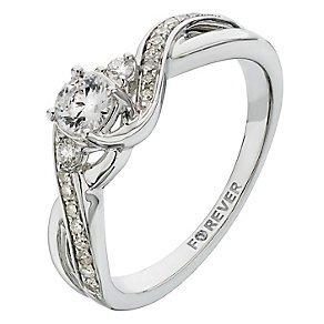 Forever Diamond 18ct White Gold 2/5 Carat Diamond Ring £899.10 @ H Samuel