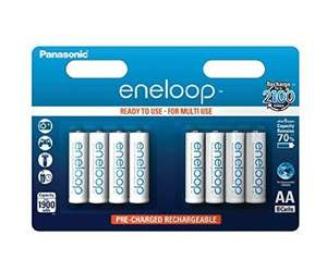 Pack of 8 AA, latest 2100 charges, Eneloop NiMh batteries £14.77 @ Amazon