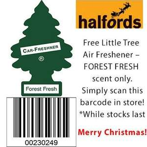 Air Freshener gift from Halfords. Just scan the barcode in store to claim yours