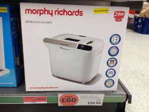 Morphy Richards breadmaker £29.99 @ Sainsburys instore