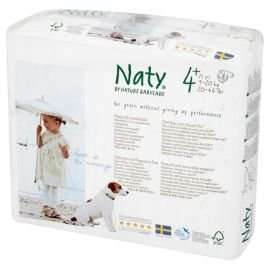 NATY nappies size 4+ (standard) and 4 (pull on pants) £3.24, free delivery above £29.99 @ Tesco Direct
