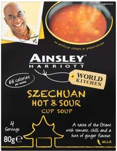 Ainsley Harriott Cup Soup (All Varieties) (4 per pack - 80g to 116g) was £1.25 now ONLY 50p (again) @ Asda