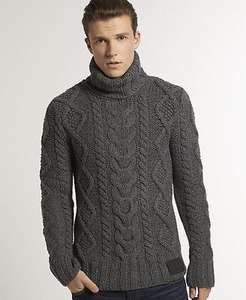 Superdry Daylesford Roll Neck Jumpers Charcoal Grey £37.99 @ Superdry Ebay