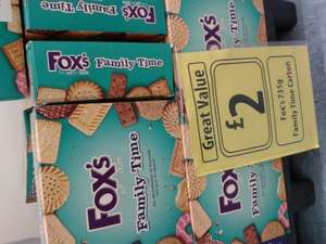 Fox's Family Time 735g Carton/Box of Biscuits for ONLY £2 at Farmfoods