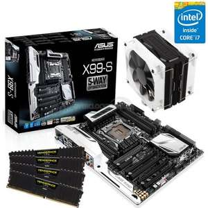 """""""Steamroller Asus X99"""" - Intel Core i7 Haswell-E DDR4 Configurable Bundle - £787.00 @ OCUK"""