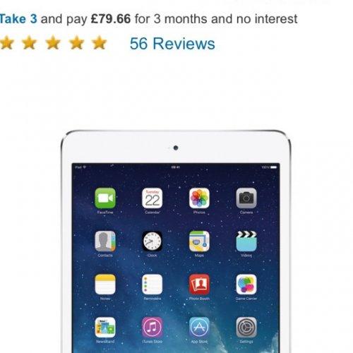Apple iPad mini 2 16Gb Wifi silver £242.95 @ woolworths