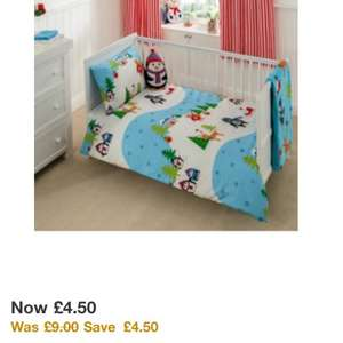 George snow Scene toddler duvet set £4.50 @ Asda