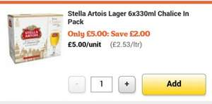 Stella Artois 6 Pack & Chalice Glass Gift Set £5 @ Sainsbury's