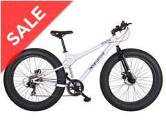 Coyote Fatman Fat Bike (Grey, white or Black) snow / sand Men's Bike now £349.99 on go outdoors