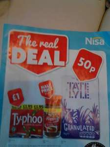 Typhoo Tea bags 80  £1 at Nisa from 5th January