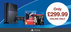 PS4 console with Driveclub & The Last of Us £299.99 GAME Online starts Xmas Day