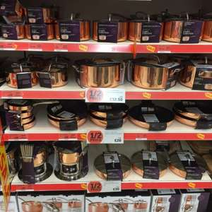 Sainsburys Copper Pans 1/2 Price £65.00