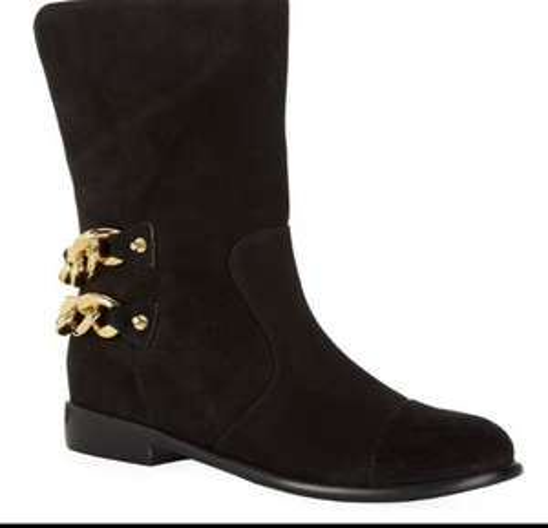 Giuseppe Zanotti Submit Suede Cobain Chain BLACK Boots £449 @ Harrods