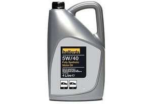 Halfords 4L Engine oil £12 Online and In Store