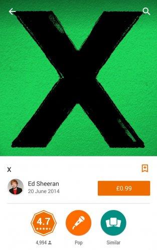 REDUCED AGAIN! Ed Sheeran X album 99p on Google Play Store
