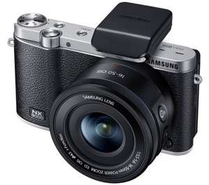 SAMSUNG NX3000 Interchangeable lenses camera system, 20.2MP, APS-C CMOS,iso up to 25600,flip screen,NFC,WI-FI with 16-50mm f/3.5-5.6 + Adobe Photoshop Lightroom 4 (maybe 5 version) @ Currys