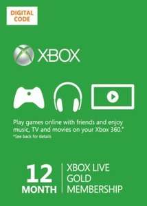 12 months xbox live £29.99 (Game) including free zoo tycoon & viva pinata digital downloads