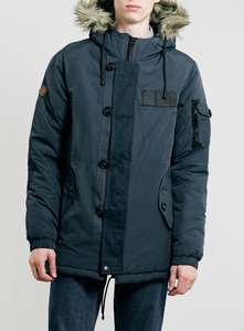 Bellfield Totto Fur Trim Parka Navy £43.48 @ Resurrection Online