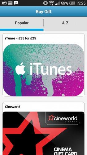 iTunes £35 for £25 via Barclays PingIt app