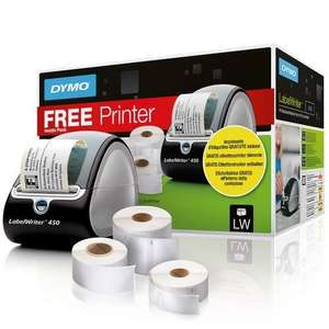 Dymo Labelwriter 450 with Assorted Label Rolls x3 - £40 Lightning Deal @ Amazon