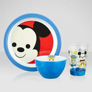 Disney Mickey Mouse Melamine Dining Set £8.00 @ John Lewis