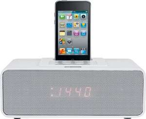 Acoustic Solutions White Alarm Clock iPhone iPod Dock - Dual Alarm - LED Display - AUX input £11.99 + FREE P&P @ Argos ebay
