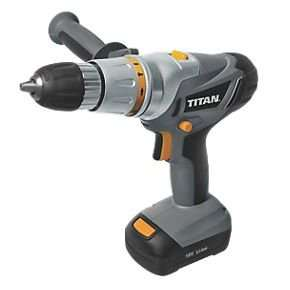 Titan 18V Lithium Combi Drill + 2 x 1.3Ah Batteries, £40 (Collection) @ Screwfix