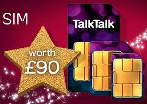 TalkTalk FREE monthly sim for Plus TV customers worth £90 (Talk Talk Customers only)