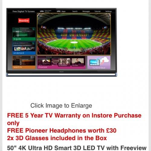 Panasonic 50ax802 £1149@ RGB Direct