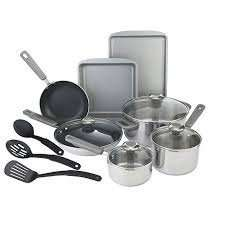 Prestige stainless steel 10 piece cookware set Debenhams 75% off free click and collect