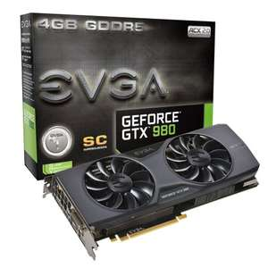EVGA GTX 980 Superclocked 4GB Graphics card £419.96 @ Scan