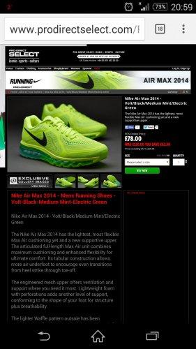 nike air max 2014 £78 @ Pro-Direct select
