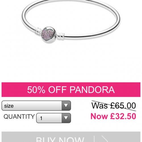 Pandora circle of love bangle £32.50 @ Republic of jewels