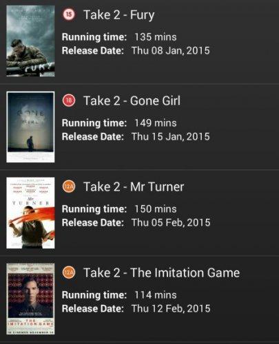 Cineworld Jan&Feb Take 2 offer, just £11 for 2 adult tickets, popcorn & 2 small drinks via Mycineworld