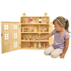 Wooden dolls house incl. 50 pieces £29.99 + free delivery (spend £30 get £5off) @ Toys R Us