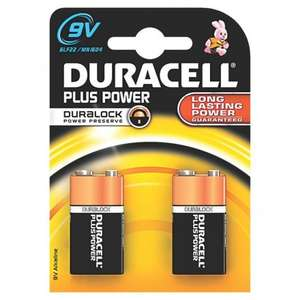 Duracell 9V battery 2 pack was £5.19 now 83% off and only 99p!! @ Screwfix