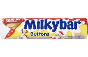 Smarties, Milky buttons and other chocolate tubes  72g - 99g  for 50p clearance @ Tesco instore