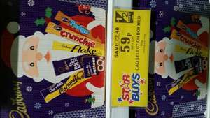 Cadbury medium selection box 59p, Large stocking selection box 99p @ Home Bargains