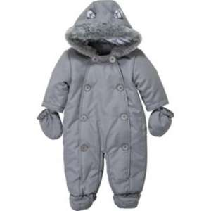 Baby Unisex Soft Grey Snowsuit Less Than Half Price £5.99 from Argos