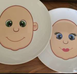 Kids Funny Face Plate £1 @ B&M