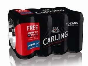 12 Cans of Carling Lager plus Now TV Sky Sports Day pass for £6.60 @ Lidl