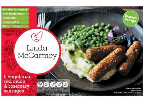 Linda McCartney Vegetarian Sausages / Red Onion & Rosemary Sausages (6) - £1 @ Morrisons...