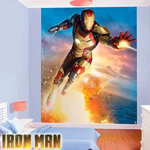Walltastic Iron Man 8ft x 6.5ft  Wall Mural £9.99 ( or + £3.49 for postage from online) @ Home Bargains