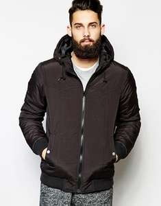 ASOS Mens Quilted Jacket - Black. Was: £50, Now: £16