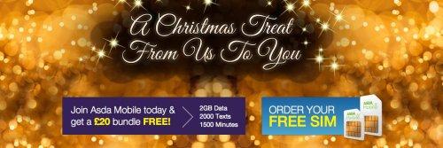 Asda Mobile sim only deal - get a free £20 bundle