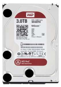 WD Red 3TB for NAS 3.5-inch Desktop Hard Drive £87.90 AMAZON